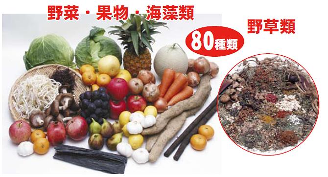 濃縮野草酵素 80種類の自然の恵み